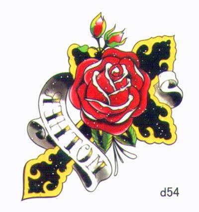 薇嘉雅 玫瑰花 超炫圖案紋身貼紙 d54