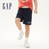 Gap男童 Logo棉質鬆緊短褲 550087-藏青色