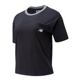 New Balance Oversized女款黑色短袖上衣-NO.WT01840BK