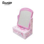 【日本正版】美樂蒂 桌上型 化妝鏡 抽屜盒 梳妝鏡 桌面收納 My Melody 三麗鷗 Sanrio - 469115