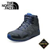 【The North Face 男款 GORE-TEX中筒輕量登山鞋 鋅灰/里蒙藍】CDL8/登山鞋/越野鞋/健行鞋