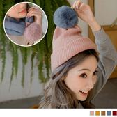 《ZC1298》兩WAY毛球球針織圍巾/毛帽 OrangeBear