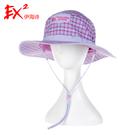 EX2 女快乾格紋圓盤帽 UPF50+『紫』351246 遮陽帽|棒球帽|遮頸帽|抗UV|防曬