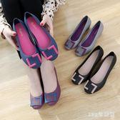 果凍鞋 夏季新品防水雨鞋女士淺口鞋包頭拼色休閒橡膠坡跟時尚女涼鞋LB21166【123休閒館】