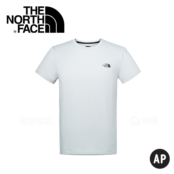 【The North Face Men's S/S Half Dome Tee男款 短袖排汗衣〈淺灰〉】2SM1/排汗衣/運動短袖