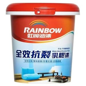 (組)彩虹屋全效抗裂乳膠漆 白色 1L-4入