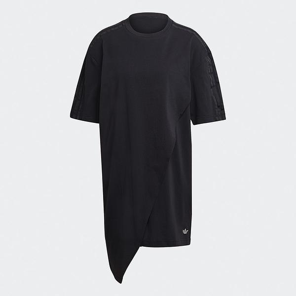 Adidas ORIGINALS BELLISTA 女裝 短袖 洋裝 連身裙 口袋 不對稱 黑【運動世界】GN3165