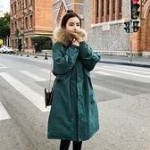 連帽外套-舖棉大毛領休閒寬鬆短/長版女夾克4款73wd48[巴黎精品]