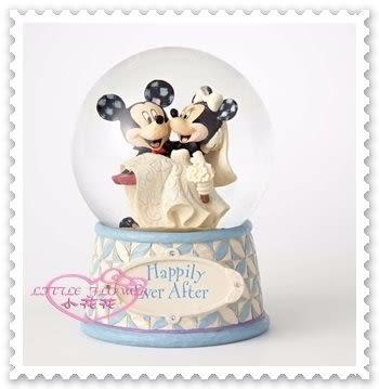 小花花日本精品♥ Mickey Minnie 米奇 米妮 浪漫 結婚典禮 愛心亮片 水晶球 裝飾 擺飾 00808507