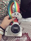 單反微單相機背帶肩帶小孔通用白云可愛潮編織原創 彩虹  朵拉朵衣櫥