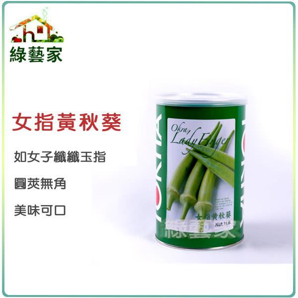 【綠藝家】大包裝G79.女指黃秋葵種子(日本進口)500顆