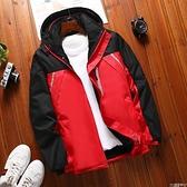 登山服 冬季新款防水防風沖鋒衣加絨加厚戶外保暖男女外套登山服外套嬡孕哺 618購物