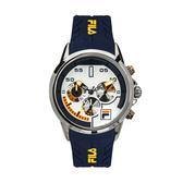 【FILA 斐樂】/三眼矽膠帶手錶(男錶 女錶 )/38-168-102/台灣總代理原廠公司貨兩年保固