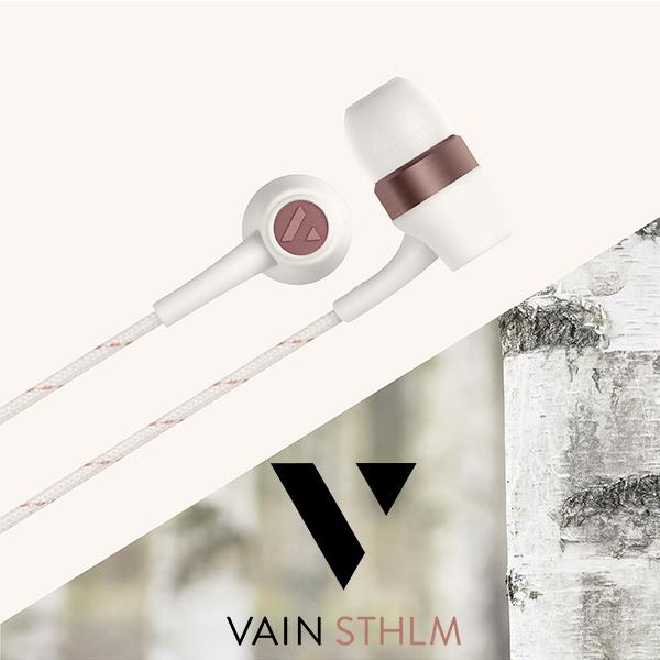瑞典精品 Vain STHLM 汎思 ORIGINALS 初衷 耳道式音樂 線控耳機 公司貨 北歐時尚簡約設計
