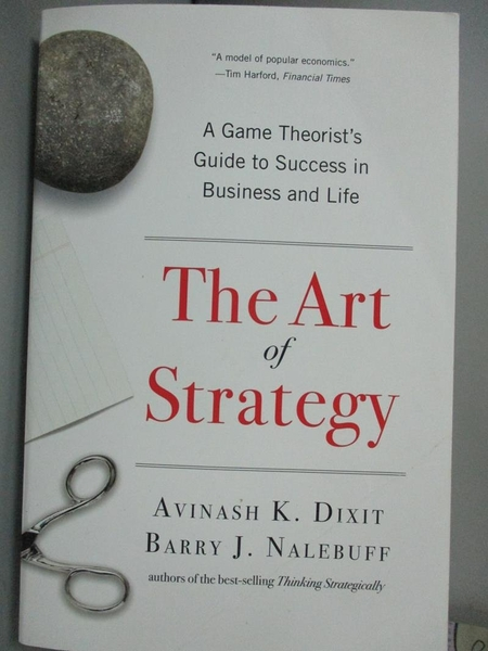 【書寶二手書T2/財經企管_KMX】The Art of Strategy_Avinash K. Dixit