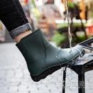 歐美時尚中筒雨鞋男水鞋低幫雨靴防水防滑廚房膠鞋釣魚洗車工作鞋 小時光生活館