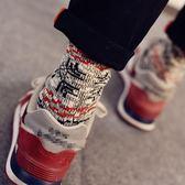 5雙裝長襪男潮民族風厚保暖高筒毛線粗線襪日系復古原宿情侶襪子 全館八五折