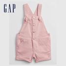 Gap女幼童 可愛扭結捲邊吊帶短褲 683474-粉色