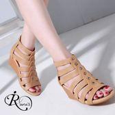 韓系雜誌款魚骨造型楔型涼鞋/3色/35-41碼 (RX0190-2025) iRurus 路絲時尚