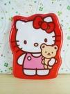 【震撼精品百貨】Hello Kitty 凱蒂貓~KITTY車票套-紅抱熊