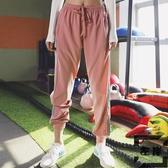 寬松運動褲女高腰小腳長褲速干透氣顯瘦瑜伽健身褲【左岸男裝】