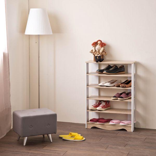 小清新雙色開放鞋架/鞋櫃