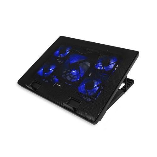 Esense E-C11 冷光五風扇筆電散熱墊-黑
