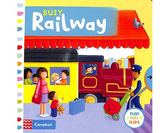 Busy Railway 擁擠的火車站 硬頁操作拉拉書