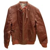 【奢華時尚】TOMMY HILFIGER 栗子色牛皮騎士風夾克(八成新)#23722