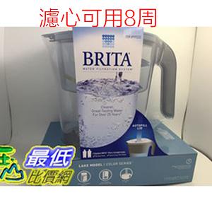 Brita Lake (最高容量4L) 2.4L 10杯濾水壺 含圓形濾心2支 可過濾151公升