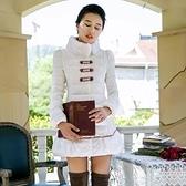 羽絨外套 中長款-公主可愛毛領修身顯瘦女外套72i12[巴黎精品]