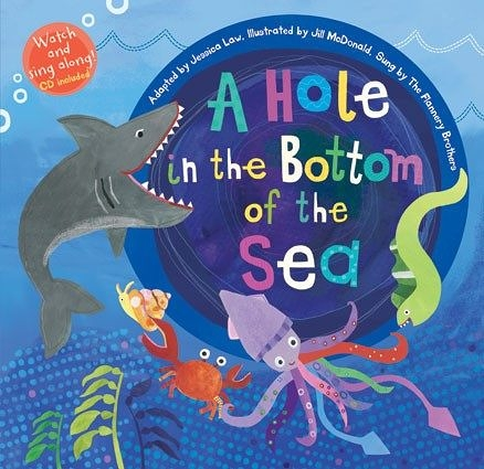 【麥克書店】A HOLE IN THE BOTTOM OF THE SEA /英文繪本附VCD 《主題:海底生物.環境》