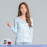 【WIWI】冰晶米奇溫灸刷毛圓領發熱衣(水漾藍 女S-2XL)
