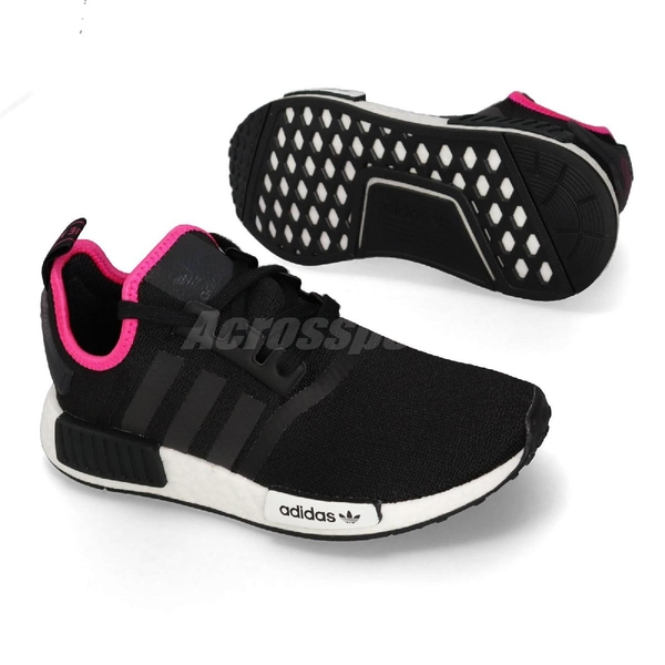 【五折特賣】adidas NMD_R1 黑 粉紅 白 襪套式 休閒鞋 慢跑鞋 運動鞋 男鞋 女鞋【ACS】 DB3586