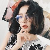 網紅眼鏡框女復古圓臉多邊形平光鏡【不二雜貨】