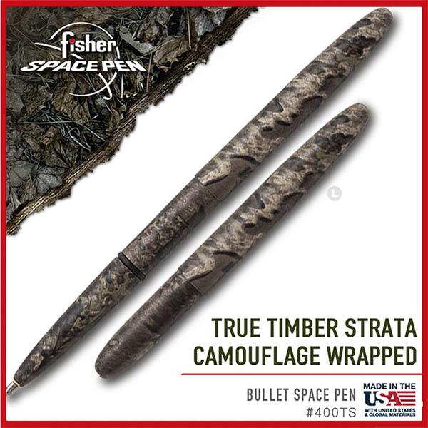Fisher Space Pen TRUE TIMBER 迷彩子彈太空筆#400TS【AH02193】99愛買小舖
