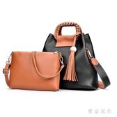 女士包包夏季新款手提包女包復古油皮子母單肩包斜挎包 QQ28986『東京衣社』