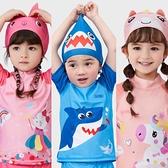 泳帽 兒童泳帽男童女童不勒頭彈力卡通可愛寶寶游泳裝備舒適印花布帽 夢藝家