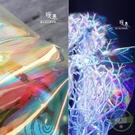反光面料 透明幻彩鐳射tpu布料 舞臺時裝包袋防水風雨衣優于pvc設計師面料-凡屋