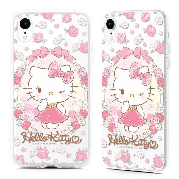 King*Shop~ 三星S10 Hello Kitty聯名施華洛  鑲鑽手機殼S10+ PLUS  透明硅膠防摔保護套A8S G887F