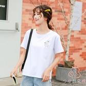 短袖t恤女韓版寬鬆純棉體恤夏季半袖上衣服【少女顏究院】