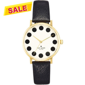 Kate Spade Merto 時尚點點手錶-米白x黑/34mm 1YRU0107