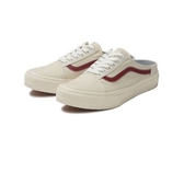 ISNEAKERS Vans OLD SKOOL 踩腳 懶人鞋 米白 帆布 紅線 基本款 男女 情侶 590747-0002