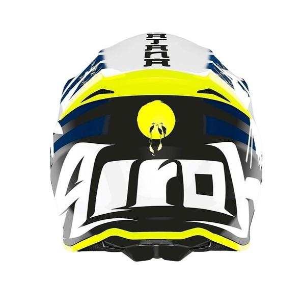 AIROH TWIST 2.0 KATANA 越野帽 #23 亮白/藍 義大利品牌|23番 安全帽 雙D扣 輕量 透氣 全罩