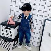兒童吊帶褲軟牛仔可開檔男童女童長褲嬰幼兒寶寶棉褲罩褲 格蘭小舖