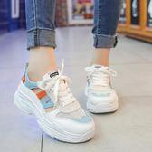 運動鞋女 高跟女2018夏季新款韓版運動羅馬涼鞋平底鞋子百搭女士學生女鞋 米蘭街頭
