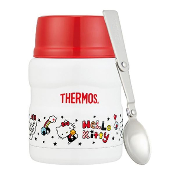THERMOS膳魔師 Hello Kitty不鏽鋼真空保溫食物燜燒罐 SK3000KT-WH 470ml