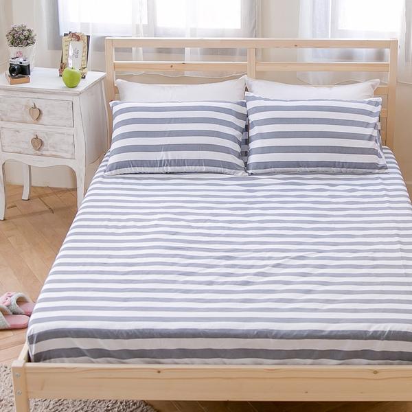 #B172#寬幅100%天然極緻純棉6x6.2尺雙人加大床包+枕套三件組(不含被套)*台灣製/床單/床巾