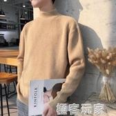 半高領毛衣男新款秋冬季韓版潮針織衫加絨加厚套頭外套打底衫 極客玩家