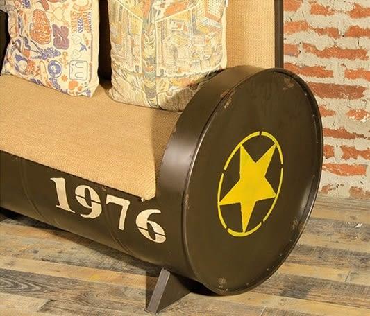 【南洋風休閒傢俱】沙發系列-工業風郵筒休閒雙人椅 美式復古沙發  鐵藝雙人沙發 loft雙人沙發